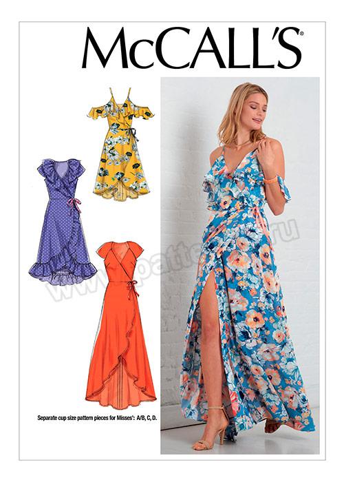 fed30c17f100a73 Выкройка McCall's — Платье с запахом - M7745-A5_6-14 | Купить с ...